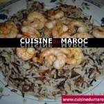 Crevettes aux riz