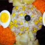 Salade variée aux poissons