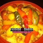 Cuisine marocaine : Couscous aux sept légumes