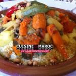 Couscous au khlii aux sept légumes