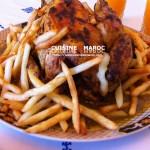 Poulet frites à la marocaine