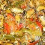 Moules aux olives à la marocaine