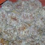 Boulettes de viande hachée aux riz