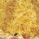Chaârya mbakhra bezbib olbasla (vermicelles à la vapeur)