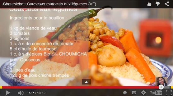 Video Choumicha Couscous Aux Legumes
