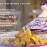 Vidéo choumicha : Poulet frit aux fèves et d'artichauts