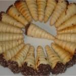 Cornet aux amandes et chocolat