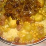 Couscous au poulet et aux trois raisins