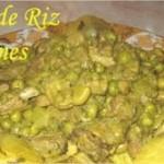 Couscous de riz aux légumes verts