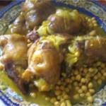 Pieds de veau au pois chiche et blé – ker3in belhemess