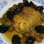 Poulet aux pruneaux et olives