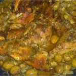 Poulet mchermel mariné aux olives