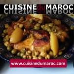 Poulet mhamar ( rôti ) aux champignons et olives