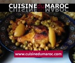 poulet-mhamar-roti-aux-champignons-olives