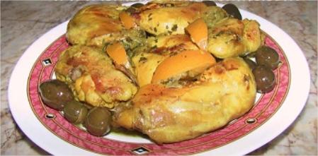 poulet-mhamer-roti-aux-olives