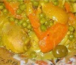 poulet-mkalli-aux-carottes-et-petits-pois