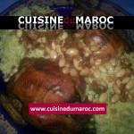 Poulet rôti a l'oriental et son riz au fruits sec frits