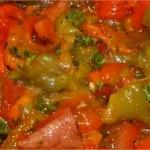 Salade de poivrons aux tomates