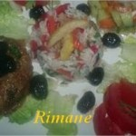 Salade de riz et poivron