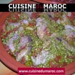Tajine de thon rouge frais au petit poix et tomates