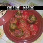 Tajine de légumes farcis, poivron, tomate, courge