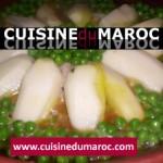Tajine de rognons blancs aux pommes de terre et petits pois