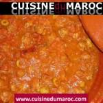 Tajine de viande hachée aux champignons et olive verte