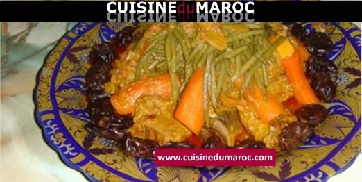 tajine-viande-pruneaux-carottes-haricots-verts