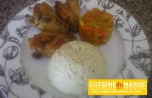 ailes-de-poulet-riz-légumes