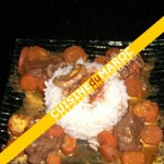 Boeuf bourguignon et riz