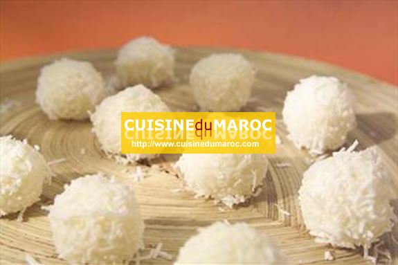 Boule de neige  Cuisine algérienne  Desserts