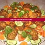 Boulettes de poulet aux courgettes