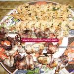 Brochettes de crevettes et poulpes