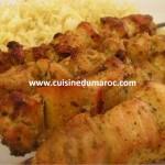Brochettes de poulet au Garam Massala