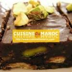 Carrés chocolat aux pistaches