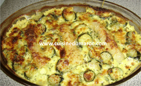 gratin de poisson sole aux courgettes. Black Bedroom Furniture Sets. Home Design Ideas