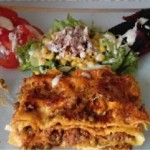 Lasagnes aux petits pois et viande hachée