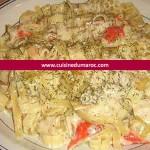 Pâtes de surimi et saumon