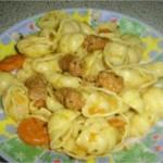 Pâtes gnocchi aux merguez (saucisse)