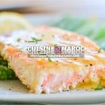 Pavé de saumon et riz aux crevettes