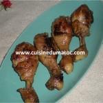 Pilons de poulet marinés