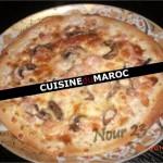 Pizza aux crevettes et champignons
