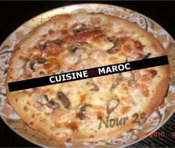 pizza-aux-crevettes-et-champignons