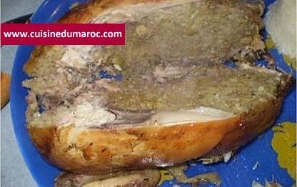 poulet-farci-riz-viande-hachee
