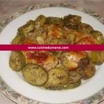 Poulet rôti aux courgettes et ail confit