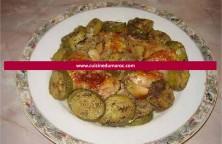 poulet-roti-courgettes-ail-confit