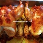 poulet-roti-farci-amandes-raisin-sec