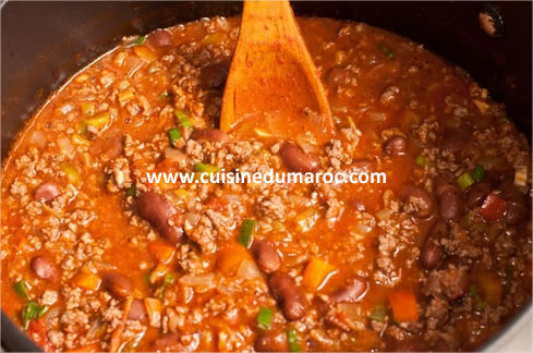Recette chili con carne facile - Recette chili cone carne thermomix ...