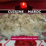 Riz au poulet champignon et crème fraîche