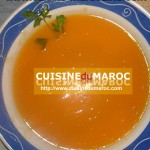 Soupe crème de courge rouge